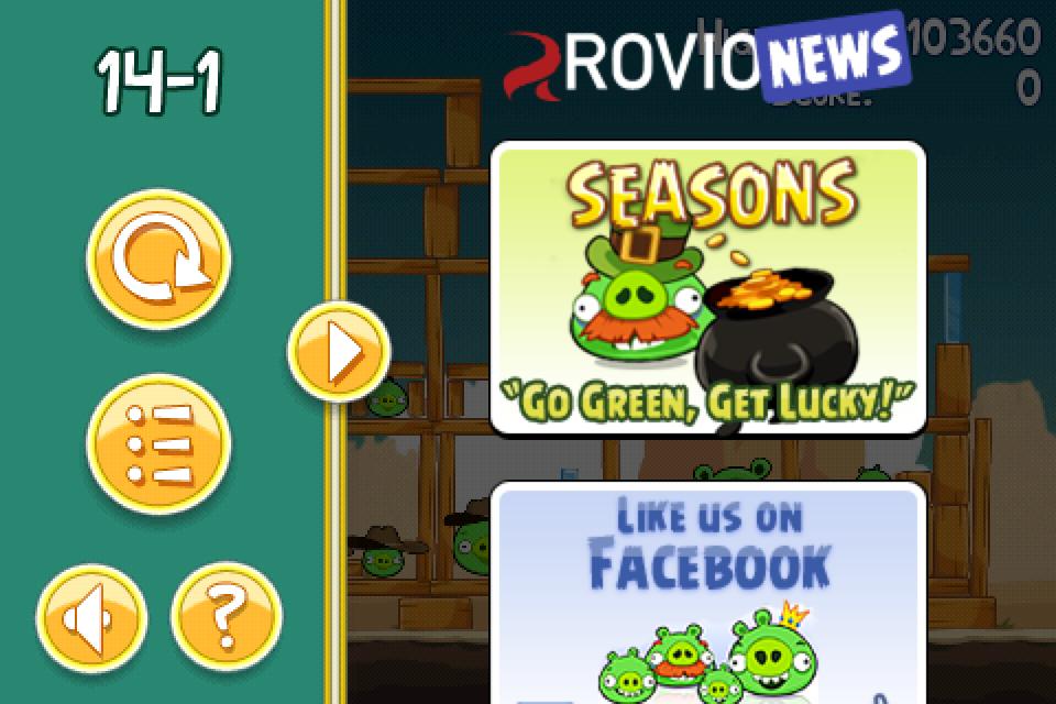 Angry Birds hírfal