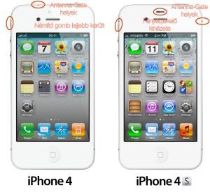 iPhone 4 és iPhone 4S Különbség